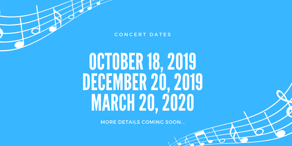 Concert dates for 2019-2020